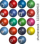 most popular social media icons ... | Shutterstock .eps vector #1222400413