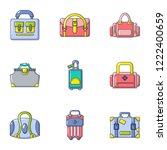trunk icons set. cartoon set of ... | Shutterstock .eps vector #1222400659
