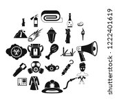 tan icons set. simple set of 25 ... | Shutterstock .eps vector #1222401619