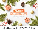 vector christmas composition... | Shutterstock .eps vector #1222414456