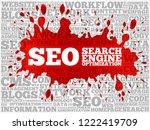 seo  search engine optimization ... | Shutterstock . vector #1222419709