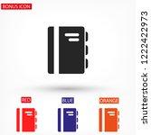 book  vector icon | Shutterstock .eps vector #1222422973