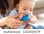 childhood and family concept  ... | Shutterstock . vector #1222424179