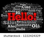 hello word cloud in different... | Shutterstock . vector #1222424329