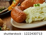 bangers and mash  english... | Shutterstock . vector #1222430713