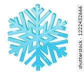 blue snowflake. 3d symbol.... | Shutterstock .eps vector #1222432666