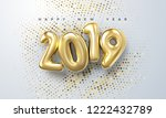happy new 2019 year. holiday... | Shutterstock .eps vector #1222432789