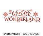 winter wonderland inspirational ... | Shutterstock .eps vector #1222432933