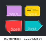 happy new 2019 year background... | Shutterstock .eps vector #1222433599
