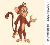 funny monkey cartoon icon.... | Shutterstock .eps vector #1222436200