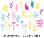 willow and palm tree branches ... | Shutterstock .eps vector #1222437856