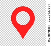 pin map icon in flat style. gps ... | Shutterstock .eps vector #1222437979