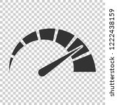meter dashboard icon in flat... | Shutterstock .eps vector #1222438159