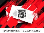 vector grunge hipster with... | Shutterstock .eps vector #1222443259