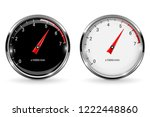 manometers. round gauges with... | Shutterstock . vector #1222448860
