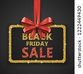 black friday sale inscription... | Shutterstock . vector #1222449430