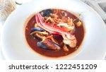 hot seafood mediterranean...   Shutterstock . vector #1222451209