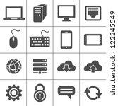 simplus icons series. network... | Shutterstock . vector #122245549