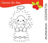 christmas angel connect the... | Shutterstock .eps vector #1222456726