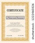 orange certificate diploma or... | Shutterstock .eps vector #1222460326