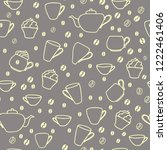 seamless pattern with coffee... | Shutterstock .eps vector #1222461406