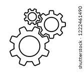 cogwheel gear mechanism | Shutterstock .eps vector #1222461490