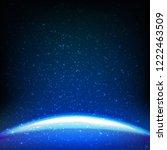 dark blue space background  | Shutterstock . vector #1222463509