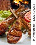 roasted lamb rib | Shutterstock . vector #1222464286
