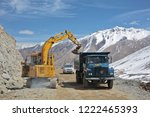 khardung la pass  india   april ... | Shutterstock . vector #1222465393