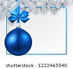 white merry christmas and happy ... | Shutterstock .eps vector #1222465540