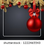 grey merry christmas and happy... | Shutterstock .eps vector #1222465543