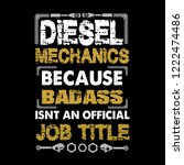 mechanic quote and saying.... | Shutterstock .eps vector #1222474486