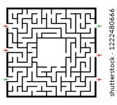 illustration with labyrinth ... | Shutterstock .eps vector #1222480666