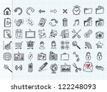 set of 54 doodle icons | Shutterstock .eps vector #122248093