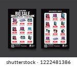 2 sides flyer template for... | Shutterstock .eps vector #1222481386