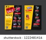 2 sides flyer template for... | Shutterstock .eps vector #1222481416