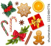 vector christmas symbol icons... | Shutterstock .eps vector #1222484776