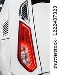 rear parking lights of a car ... | Shutterstock . vector #1222487323