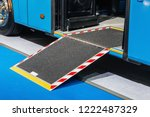 platform for wheelchairs in the ... | Shutterstock . vector #1222487329