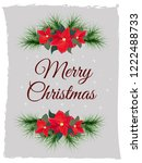 vector christmas card. postcard ... | Shutterstock .eps vector #1222488733