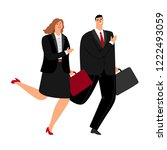 business man and woman running... | Shutterstock .eps vector #1222493059
