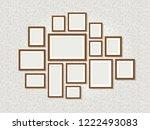 wall photo frames. exhibition...   Shutterstock .eps vector #1222493083