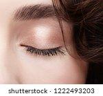 closeup macro shot of closed... | Shutterstock . vector #1222493203