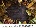 thanksgiving dinner. autumn... | Shutterstock . vector #1222494220