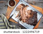 traditional barbecue pulled... | Shutterstock . vector #1222496719