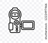 video recorder vector linear... | Shutterstock .eps vector #1222497466