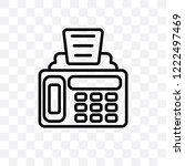 fax machine vector linear icon... | Shutterstock .eps vector #1222497469