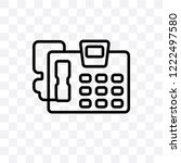 answering machine vector linear ... | Shutterstock .eps vector #1222497580
