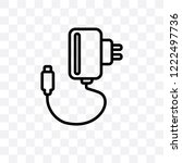 charger vector linear icon... | Shutterstock .eps vector #1222497736