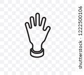 raise hand vector linear icon... | Shutterstock .eps vector #1222500106